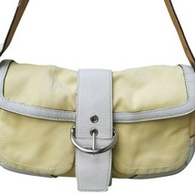 Vintage Coach Yellow Classic flap hobo with extra pockets. - $42.08