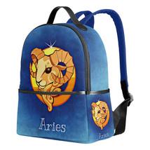 Women Girls Constellation Aries Widder Printed Canvas Bag Backpack Schoo... - $33.99