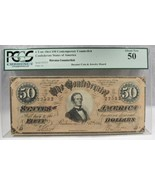 1864 $50 CT-66 Confederate Civil War Counterfeit Banknote Hoard PC-183 - $372.70