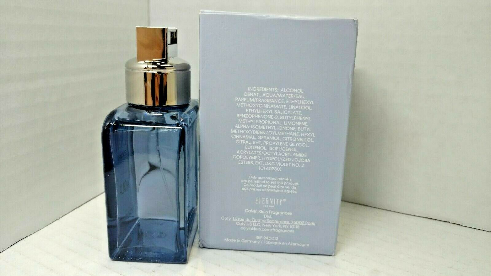 Eternity Aqua by Calvin Klein for Men 3.3 oz EDT Spray READ COMMENT image 2