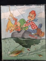 """Howdy Doody Vintage puzzle 1949 """"Howdy Doody Goes Fishing"""" Whitman # 2984  - $14.01"""