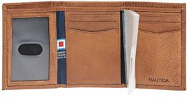 Nautica Men's Genuine Leather Trifold Credit Card ID Holder Wallet 31NU11X026 image 5