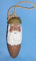 Weihnachtsmann Porzellan Keramik Tannenzapfen Nature Natürlich Ornament - $17.26