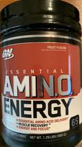 ON Optimum Nutrition Essential Amino Energy Fruit Fusion powder 1.29 lbs 8/2022 - $39.99