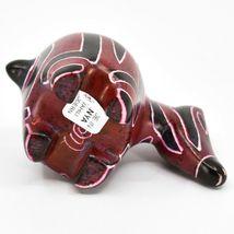 Crafts Caravan Hand Carved Soapstone Red & Black Chubby Zebra Figurine Kenya image 5