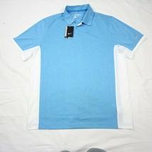 Nike Golf Victory Block Polo Teal Aqua Blue White Large L 639705-413 Dri-FIT  - $39.59
