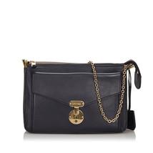 Pre-Loved Celine Black Others Leather Chain Shoulder Bag Italy - $645.01