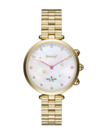 KATE SPADE NEW YORK HOLLAND KST23200 GOLD STAINLESS STEEL HYBRID WOMEN'S... - £116.03 GBP