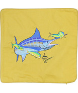 Embroidered Cushion Pillow Cover Marine Art Throw Pillow Blue Marlin and... - $19.95