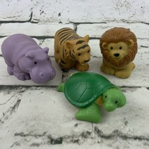 Fisher Price Little People Zoo Talkers Animal Figures Lot Of 4 Lion Turt... - $24.74
