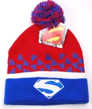 DC Comics Knit Pom Pom Winter Hat/Beanie/Toque  Superman - $18.04