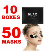 LOT of 10 X Blaq Charcoal Eye Mask HydroGel-for Puffy Eyes Dark Circles ... - $59.39