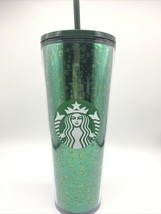 New ~ Starbucks Christmas 2019 ~ Green Glitter Sequin~ Cold Cup Tumbler 24 Oz - $39.11