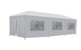 FDW PT-1030-8-White 10'x30' White Outdoor Gazebo Canopy Wedding Party Te... - $94.02