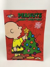Peanuts Merry Christmas Paint with Water Charlie Brown Book Landolls Vintage 90s - $12.82