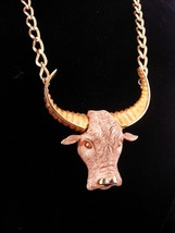 Razza Texas Bull Necklace / Vintage Western Cowboy necklace / Rancher / ... - $210.00