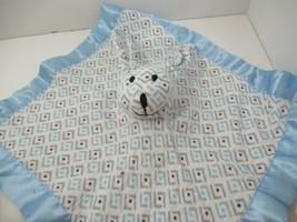 Aden Anais Blue Bunny Rabbit Security Blanket Musy Mate Lovey Dots Arrows Muslin - $44.54
