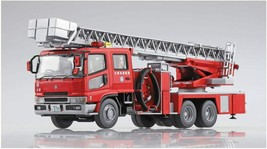 Aoshima 1/72 Fire Ladder Truck Otsu Municipal Fire Department Model Kit New - $30.60