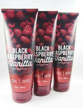 (6) Bath Body Works Black Raspberry Vanilla 24 hour Shea Moisture Body C... - $52.33