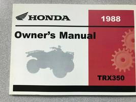 1988 honda trx350d TRX 350 fourtrax 4x4 OPERATORS OWNERS MANUAL NEW - $64.16