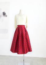 Women Black Pleated Skirt High Waist Black Party Skirt Pleated Long Skirt Plus image 4