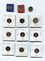 9 Proof Lincoln Memorial Pennies + 3 UNC , various date between 1975 - 2... - $17.60