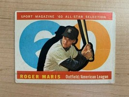 1961 Roger Maris Topps All-Star Baseball Card #565 (Original) - $69.30