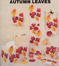 Autumn Leaves Tissue Cover Coasters Needlecraft Ala Mode Plastic Canvas ... - $2.67