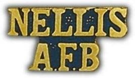 Nellis Afb Air Force Base Script Gold Lapel Pin - $13.53