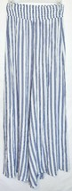 Forever 21 Women's Ivory Blue Striped Woven Wide Leg Pants Size S NWT image 2