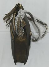 Simply Noelle Brand HB243 Black Metallic Color 3 Zipper Womens Purse image 4