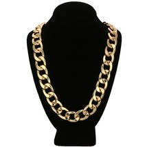 "14K Gold GP Large Long 20mm Miami Cuban Link 36"" Heavy Solid Chain Neckl... - $28.04"