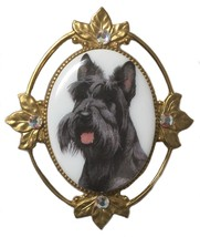 Vintage Scotty Scottie Dog Terrier Brooch Pin - $57.01