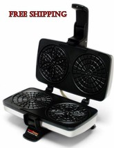 Pizzelle Chef Maid Non Stick Cookie Maker Iron Bake Baker Machine Cook H... - €65,20 EUR