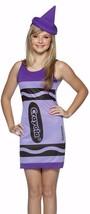 Crayola Wisteria Purple Crayon Tank Dress Halloween Costume Teen Size Standard - £14.04 GBP