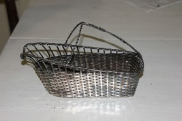 Woven Silverplated Wine Pouring Basket by Israel Freeman and Son - $39.00