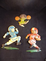Vintage 1976 HOMCO Decorative WALL HANGING KIDS PLAYING FOOTBALL & CHEER... - $59.39