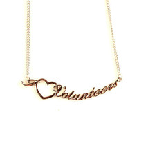 "NCAA Tennessee Heart Script Necklace - Chain Logo Team 18"" Jewelry Volun... - $7.87"