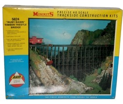 Vintage Ruby Basin Timber Trestle Bridge NIB