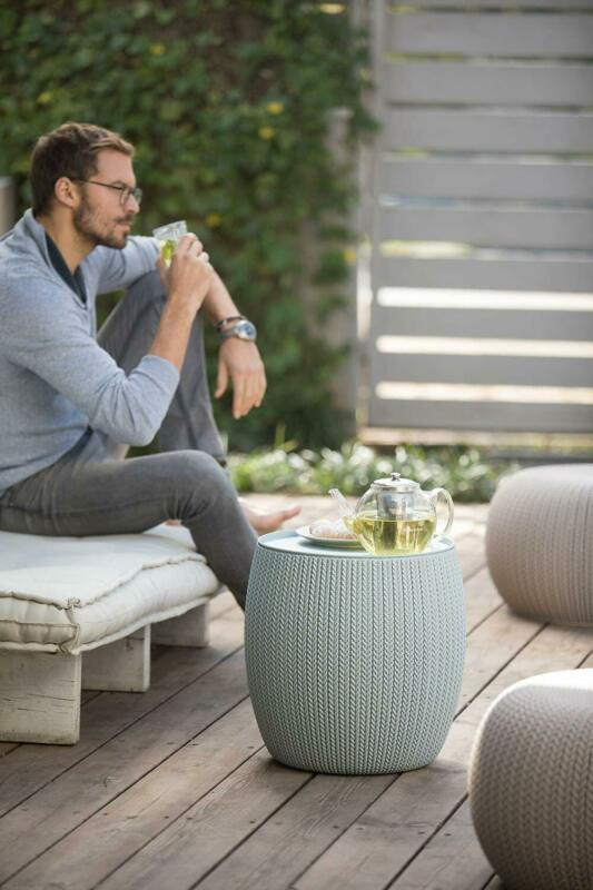 Modern Urban Knit Pouf Set Indoor Outdoor Furniture Elegant Design High Quality