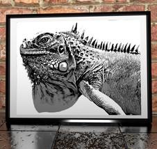 Reptile Lizard Digital Painting Gilcée Poster P... - $11.99 - $49.99