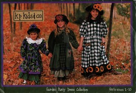 K.P. Kids uncut sewing pattern Garden Party dress collection sizes 1 to 10 - $5.40