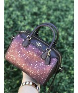 New Coach Extra Micro Bennett Star Glitter Crossbody Satchel F37747 Bag - $118.79