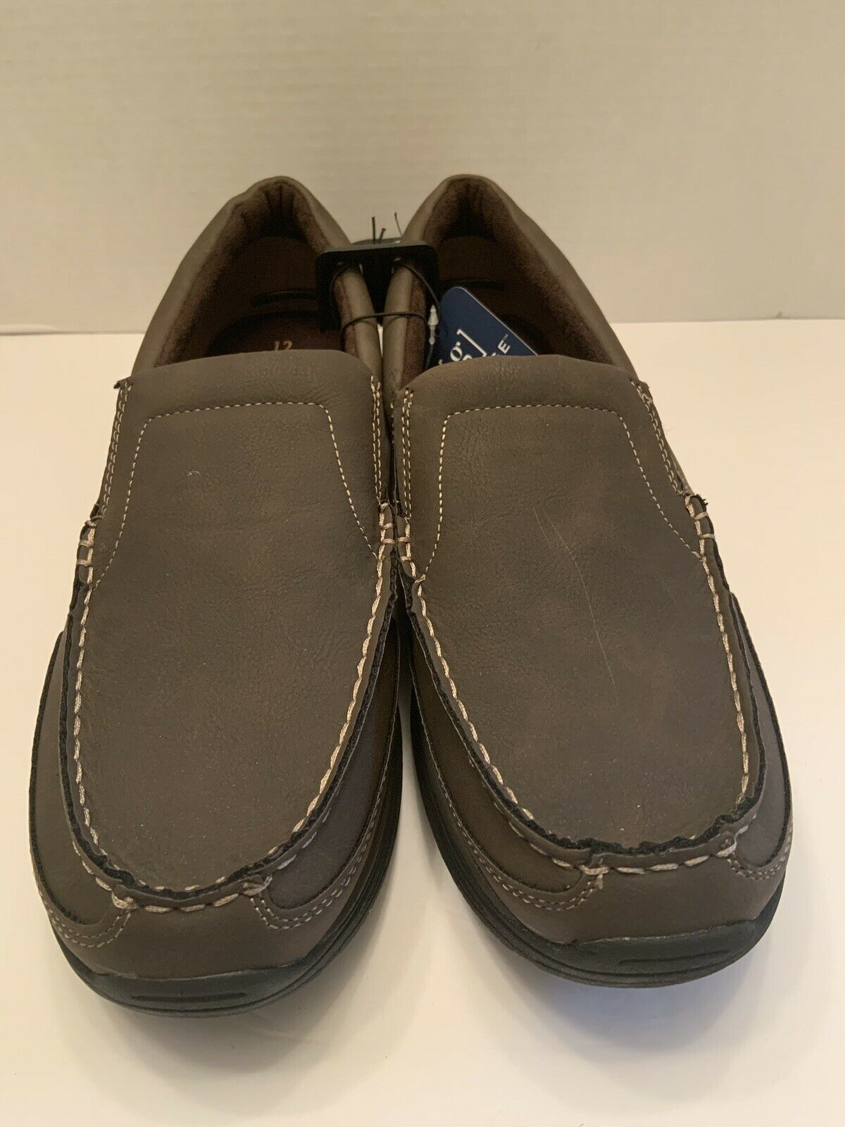 George Men Slip On Loafers Casual Memory Form Pick - Brown Or Black Sz 12 & 13