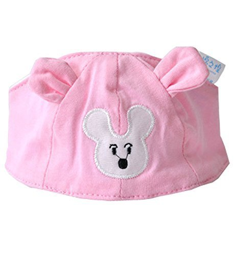 Summer Baby Hats/Caps Infant Bald Head Cotton Hats Light Pink Mice