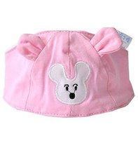 Summer Baby Hats/Caps Infant Bald Head Cotton Hats Light Pink Mice
