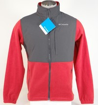 Columbia Loganville Trail 2.0 Red Full Zip Fleece Jacket Mens NWT - $74.99