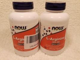 X 2 NOW Supplements L-Arginine 500 mg - 250 Veg Capsules Each Exp 5/24 Sealed - $19.59