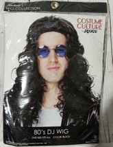 80s DJ Wig Black Wig Costume Culture By Franco halloween dress up cosplay  - $16.44
