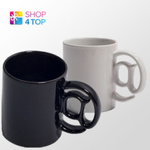 @ Mug Shaped Handle Black White Ceramic 3D Coffee Tea Drink It Mail Novelty New - $10.09